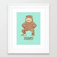 sasquatch Framed Art Prints featuring Sasquatch by Darel Seow