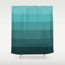 Winter Dark Teal - Color Therapy Shower Curtain