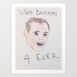 Steve Buscemi With Braces Art Print