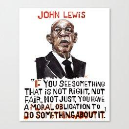 John Lewis Tribute Canvas Print