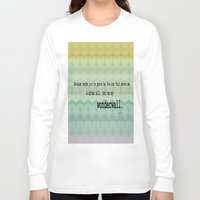 oasis Long Sleeve T-shirts featuring Wonderwall - Oasis by Paxton Keating