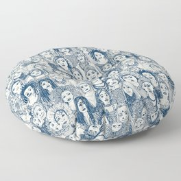 WOMEN OF THE WORLD BLUE Floor Pillow