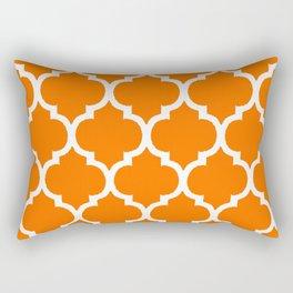 MOROCCAN ORANGE AND WHITE PATTERN Rectangular Pillow