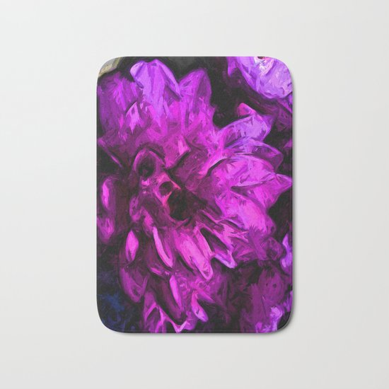 Lavender and Pink Flower Bath Mat