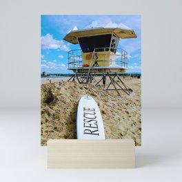 San Diego Beach Lifeguard Station by Reay of Light Mini Art Print