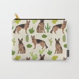 German Shepherd Cactus desert southwest dog lover gifts dog breed service dog Carry-All Pouch