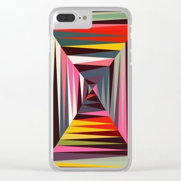 Retro Tunnel Clear iPhone Case