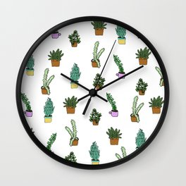 Succulent Dreaming Wall Clock