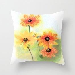 Gloriosa Daisies Throw Pillow