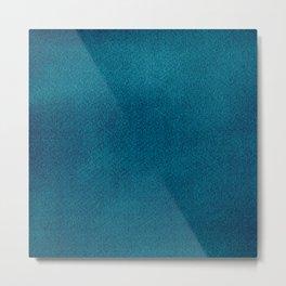 Blue Watercolor Square Metal Print