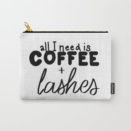 Coffee & Lashes Carry-All Pouch