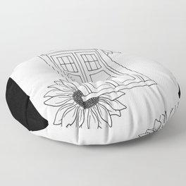 Doctor Who Tardis Illustration Design Floor Pillow