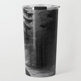 The Dark Path (Black and White) Travel Mug