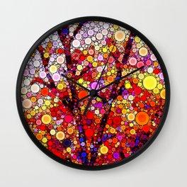 Planting Cherry Trees Wall Clock