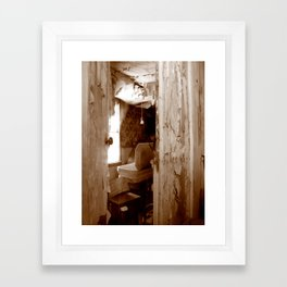 Looking In At The Undertaker Framed Art Print