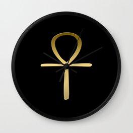 Ankh cross Egyptian symbol Wall Clock