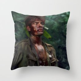 Charlie Sheen @ Platoon Throw Pillow