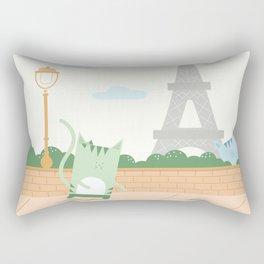 Traveling Tabbies: In Paris Rectangular Pillow
