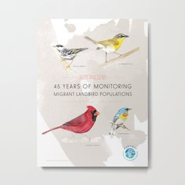 45 Years of Monitoring Landbird Populations  Metal Print