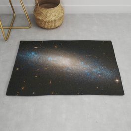 Celestial Sequins Photograph of Spiral Galaxy NGC 4455 - Coma Berenices (Berenice's Hair) Rug