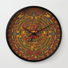 Aztec sun Wall Clock