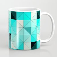 teal Mugs featuring Teal by Hannah