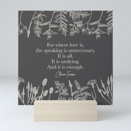 For where love is... Claire Fraser. Mini Art Print
