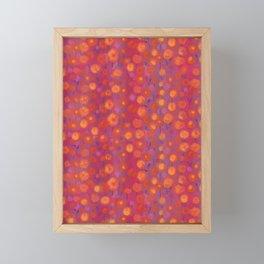 Candy Field, Pink & Orange Framed Mini Art Print