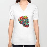 lsd V-neck T-shirts featuring LSD Skull by johannesart