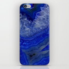 deep blue agate with peach background iPhone Skin
