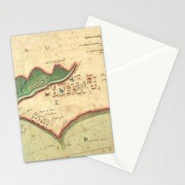Vintage Map of Lima Peru (1702) Stationery Cards