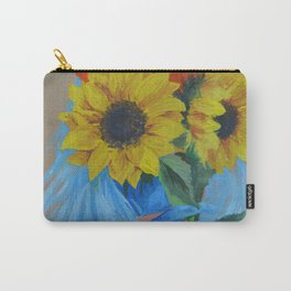 Sunflower Season Carry-All Pouch
