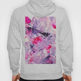 Fall in love with your life | Modern purple neon pink abstract brushstrokes acrylic painting Hoody