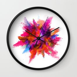 Colorful explosion Wall Clock