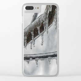 Icy Branch Clear iPhone Case