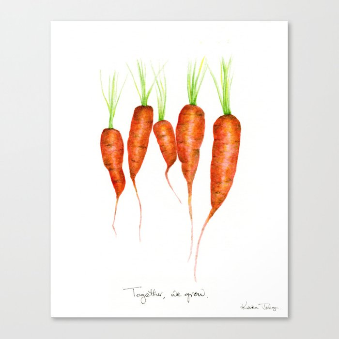 Carrots - Together we grow Canvas Print