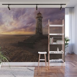 Sunset at the Lighthouse Wall Mural