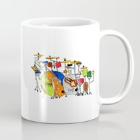 drums Mugs featuring EPIC DRUMS by OUTSIDE VOICE