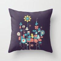 sunflower Throw Pillows featuring Sunflower by Jay Fleck