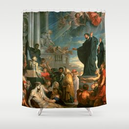 """Peter Paul Rubens """"The miracles of St. Francis Xavier"""" Shower Curtain"""