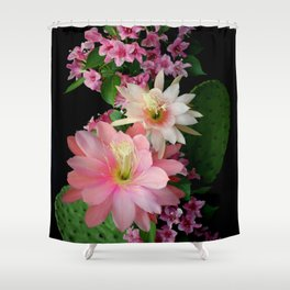 Cacti, Pink And Paler Shower Curtain