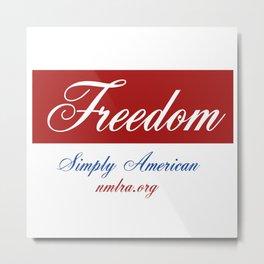 Simply American Metal Print