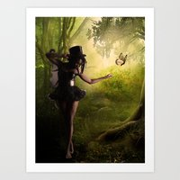 tinker bell Art Prints featuring Tinker Bell by Best Light Images