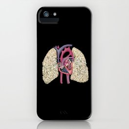 Fetal Heart with Baby's Breath Lungs iPhone Case