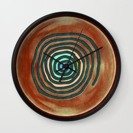 Tribal Maps - Magical Mazes #02 Wall Clock