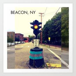 Windows On Main Street 2015 - Beacon NY Dummy Light Art Print