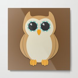 Forest Owl Nursery Set Metal Print