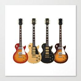 Four Electric Guitars Canvas Print