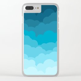 Gradient Clouds Clear iPhone Case