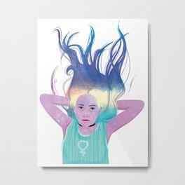 Galaxy Girl Dreams Metal Print